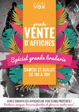 GRANDE BRADERIE – SPÉCIAL VENTE D'AFFICHES