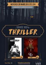 SOIRÉE THRILLER : GET OUT & US