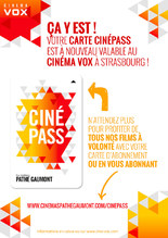 CARTE CINEPASS AU CINEMA VOX !