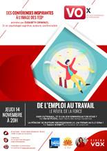 CONFÉRENCES VOx (Voix originales de Strasbourg) : LE TRAVAIL