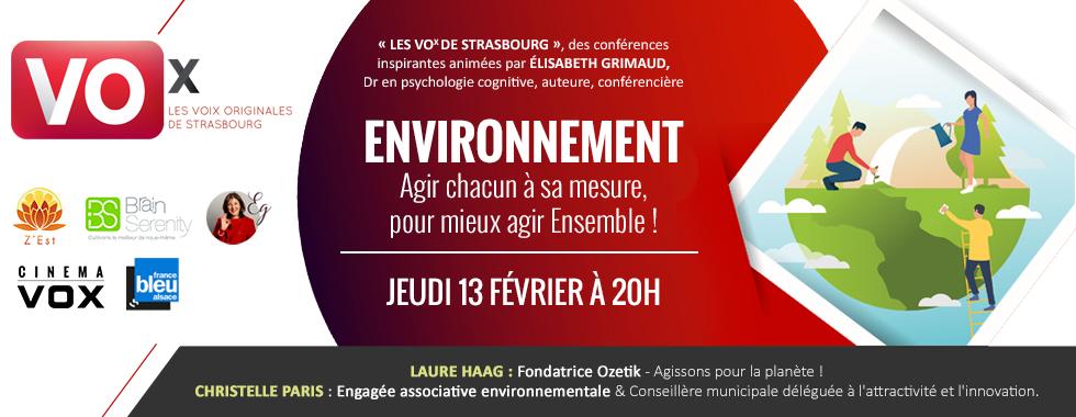 CONFÉRENCES VOx (Voix originales de Strasbourg) : L'ENVIRONNEMENT