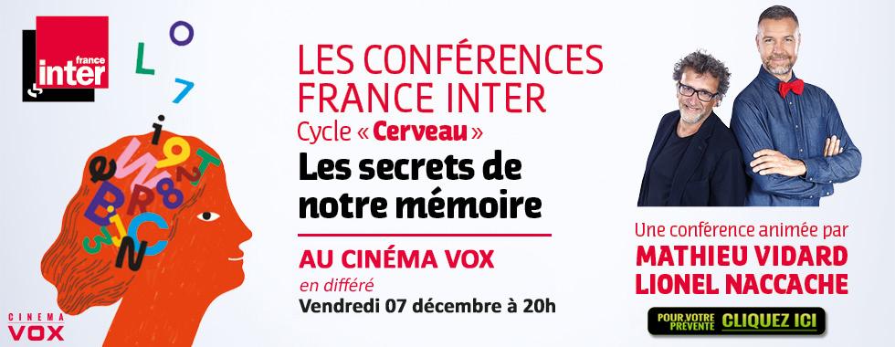 Photo du film Les secrets de notre mémoire - Conférence France Inter (CGR Events)